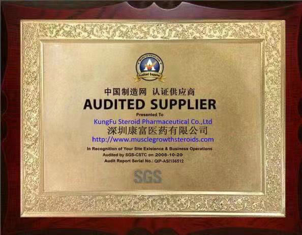 Cina KungFu Steroid Pharmaceutical Co.,Ltd Sertifikasi